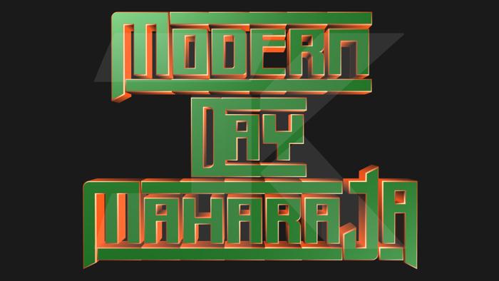 Modern Day Maharaja Font poster