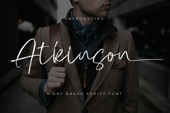 Atkinson Signature Font poster
