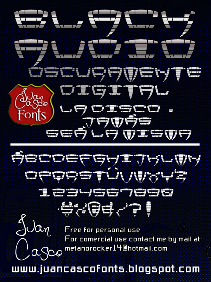 Black Audio Font poster