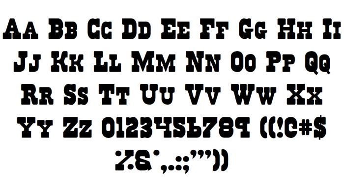 Regulators Font poster