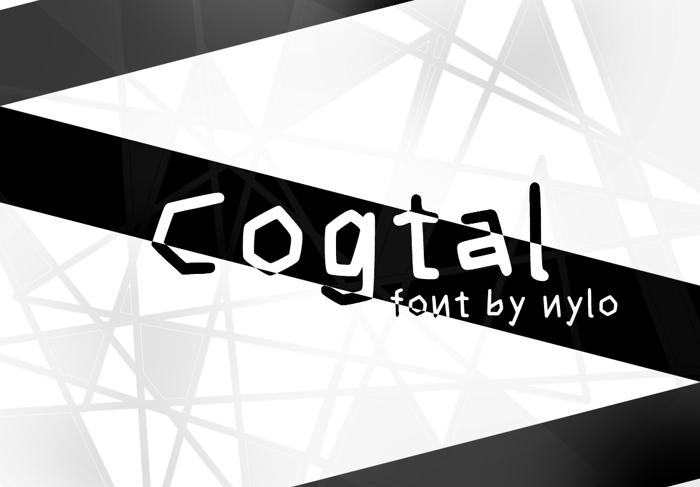 Cogtal Font poster