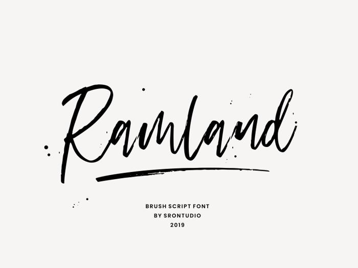 Ramland Font poster