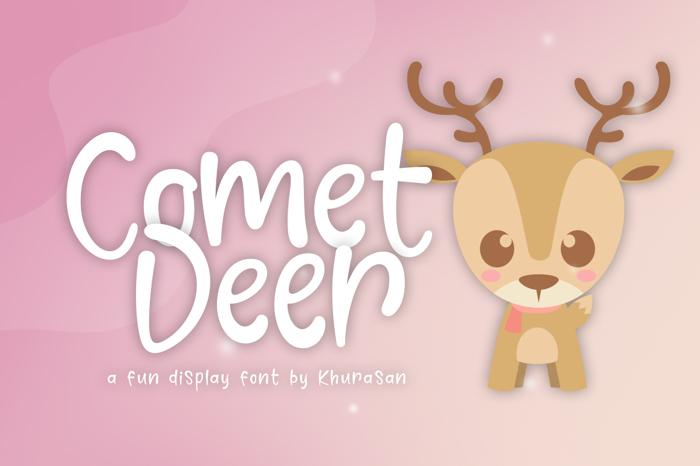 Comet Deer Font