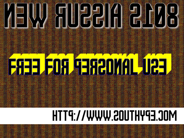 New Russia 2108 St Font poster