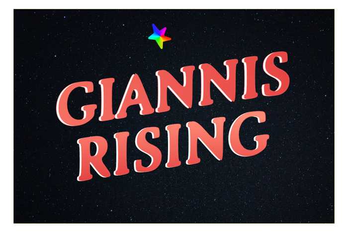 Giannis Rising Font poster