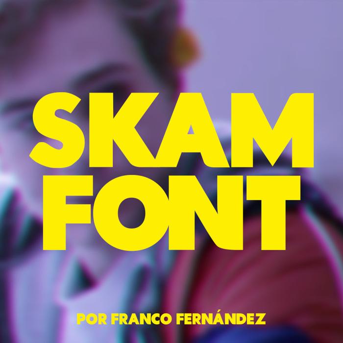 Skam Font poster