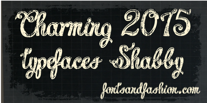 Charming shabby demo Font poster
