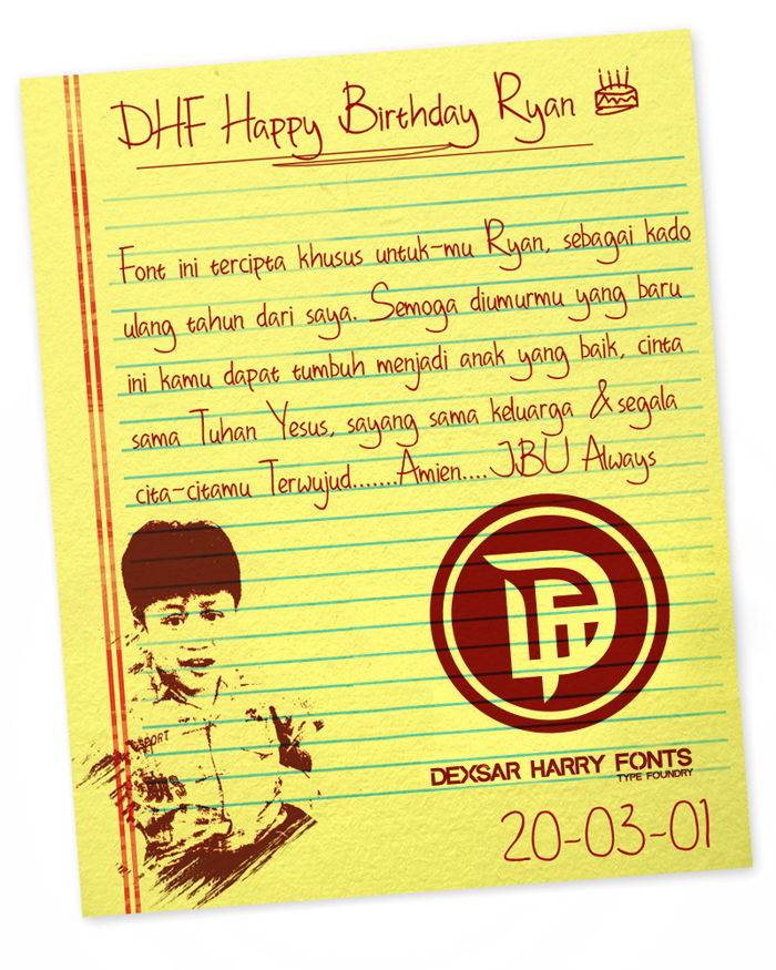 DHF Happy Birthday Ryan Font poster