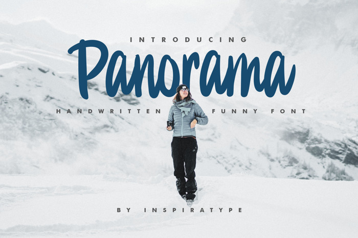 Panorama Font poster