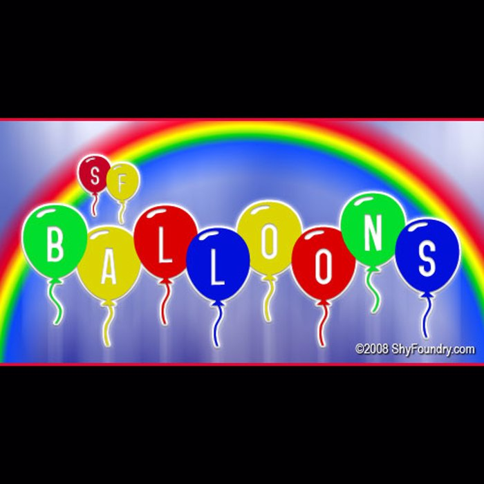 SF Balloons Font poster