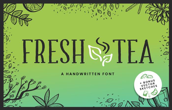 Fresh Tea Font poster