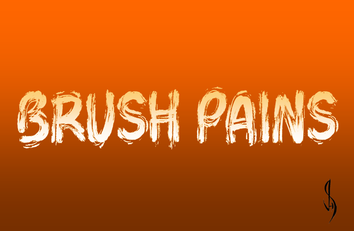 Brush Pains Font poster