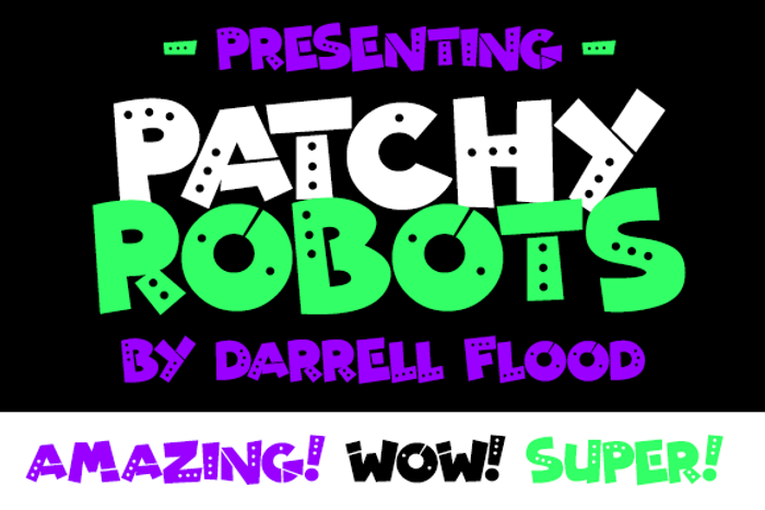 Patchy Robots Font poster