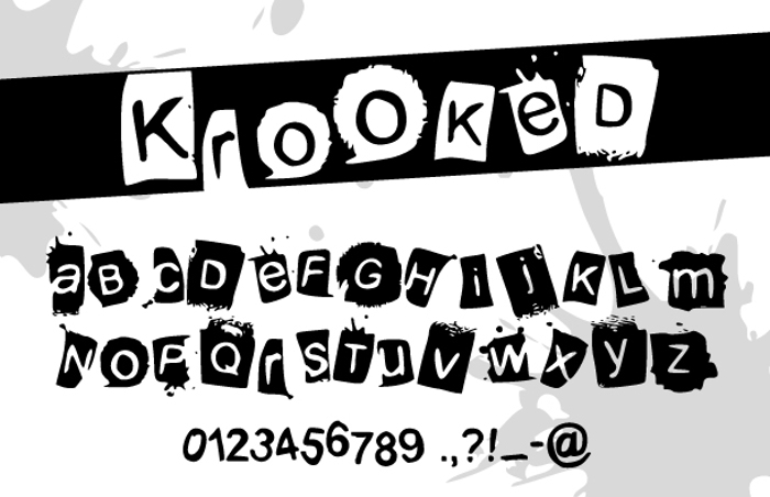 KrooKed Font poster