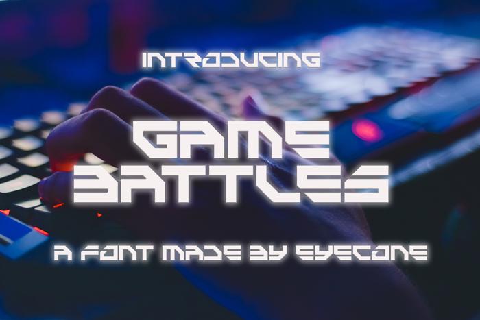 Game Battles Font