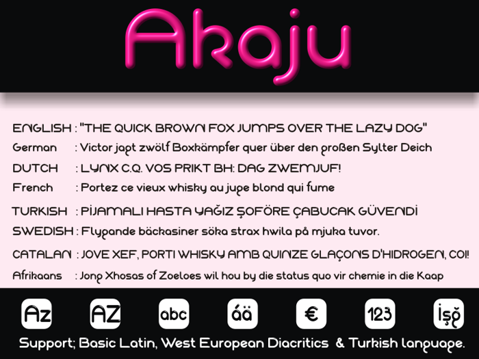 Akaju Font poster