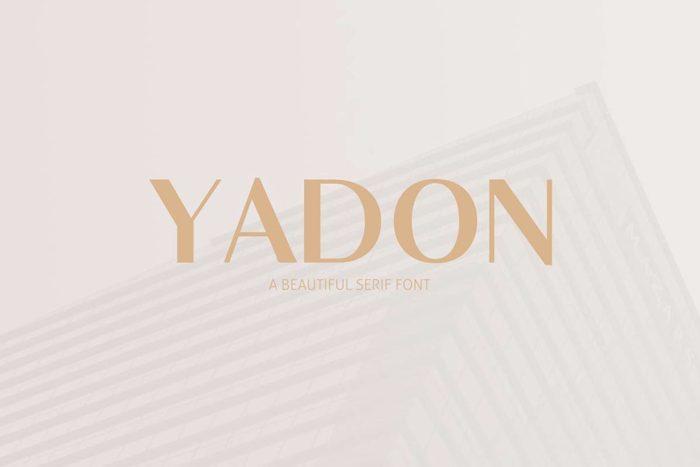 Yadon Font poster