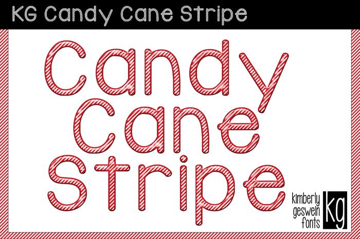 KG Candy Cane Stripe Font poster
