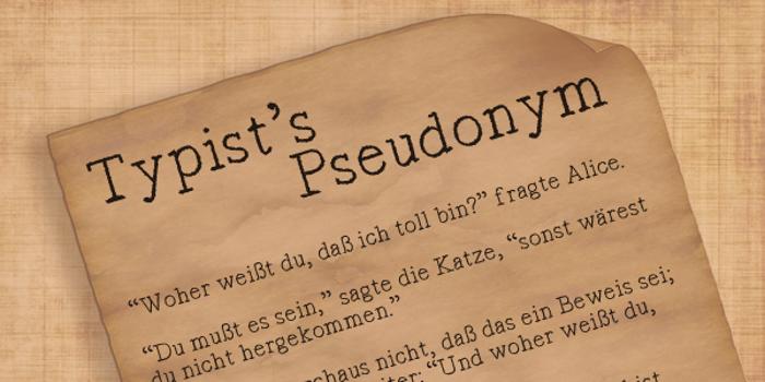 Typist's Pseudonym Font poster