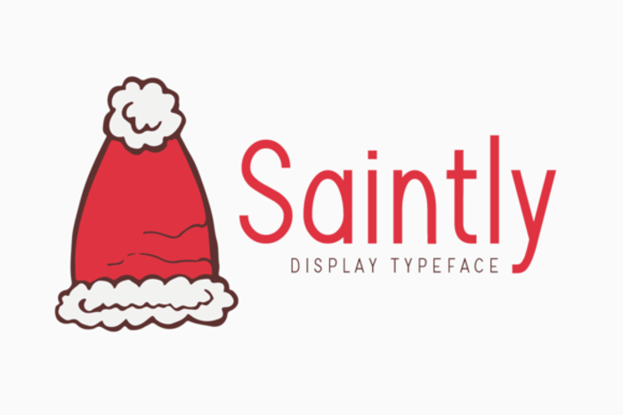 Saintly Font poster