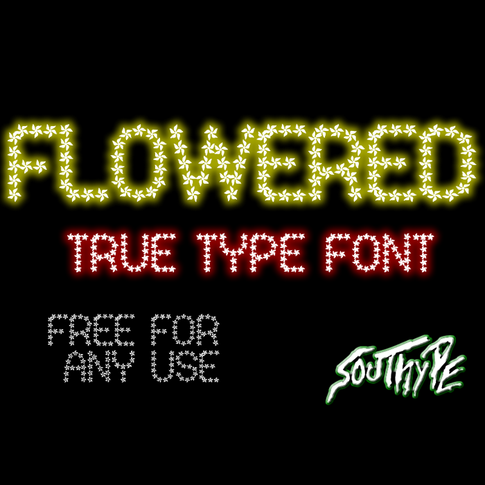 Flowered St Font poster