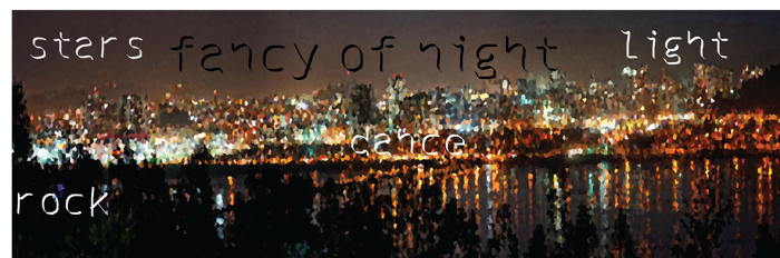 fancy of night Font poster