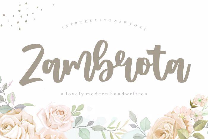 Zambrota Font poster