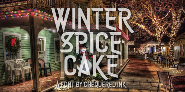 Winter Spice Cake Font poster