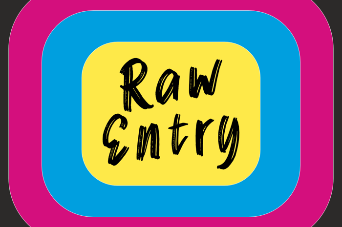Raw Entry Font poster