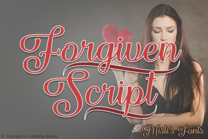 Forgiven Script Font poster
