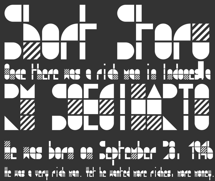 modulo3 Font poster