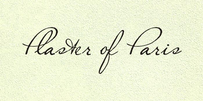 Plaster of Paris Font poster
