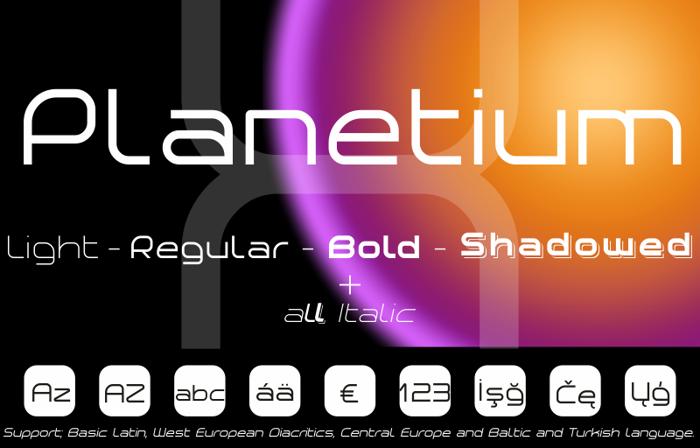 Planetium-X Font poster