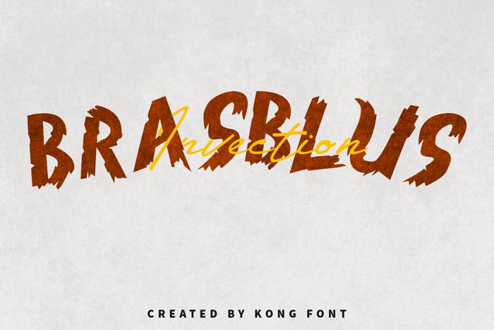 Brasblus Font poster