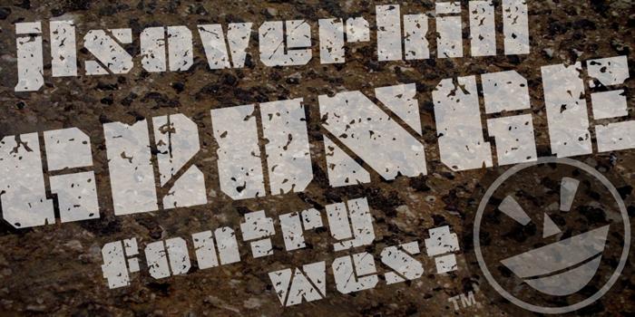 JLS OverKill Grunge Font poster