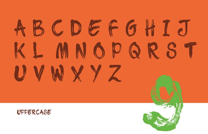 Tajamuka Script Font poster