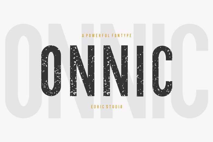 ONNIC Font poster