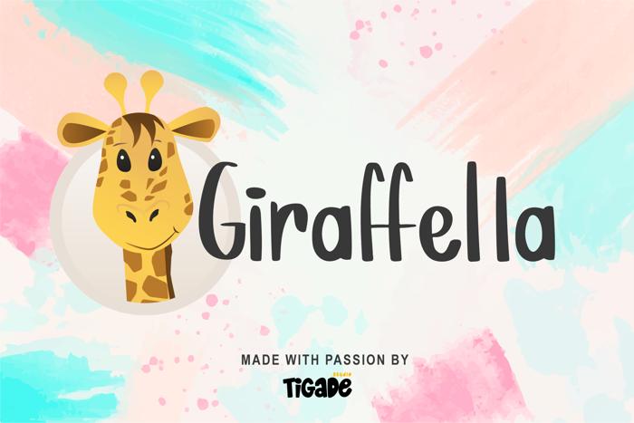 Giraffella Font poster