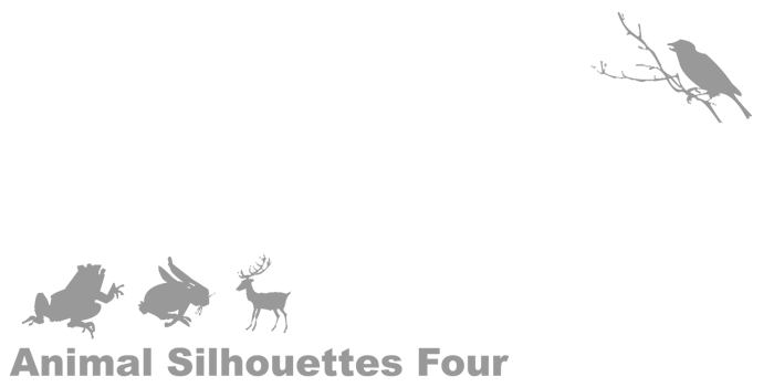 Animal Silhouettes Four Font poster