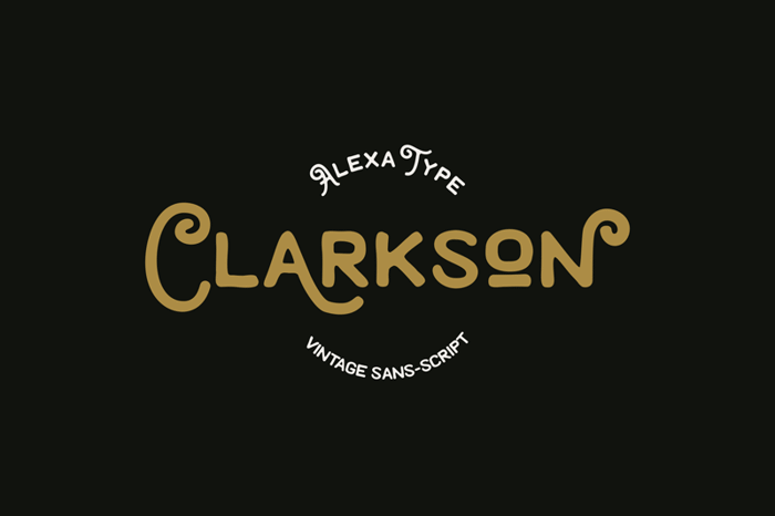 Clarkson Font poster