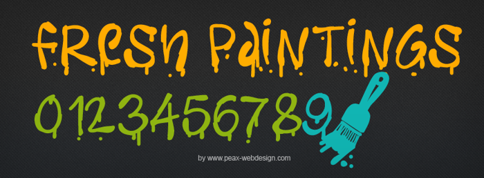 PWFreshpaintings Font poster