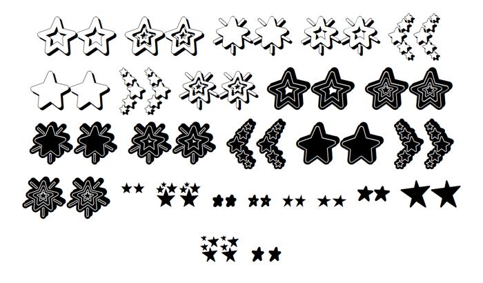MF Star Dings 2 Font poster