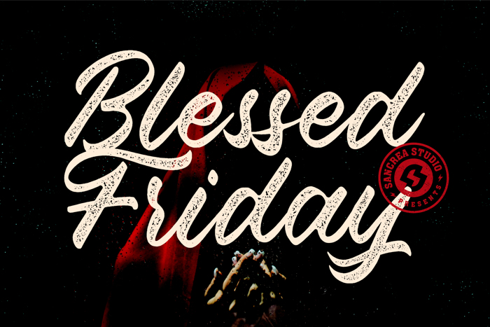 Blessed Friday Font poster