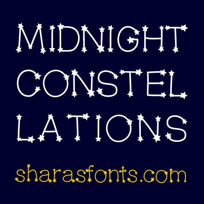 MidnightConstellations Font poster