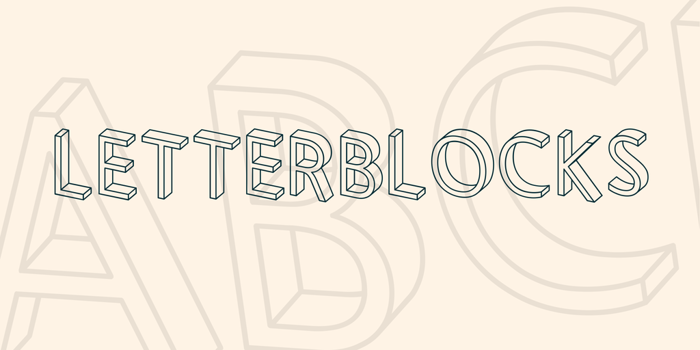 Letterblocks Font poster