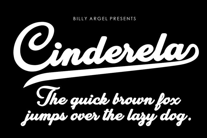 Cinderela Font poster