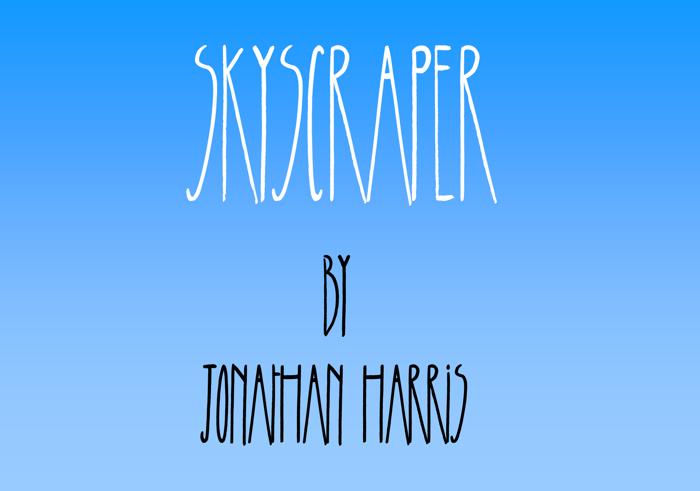 Skyscraper Font poster