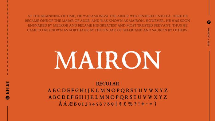 Mairon Font poster