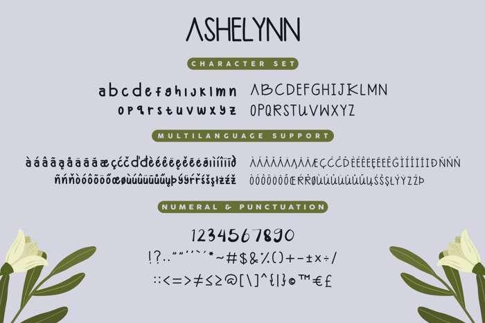 Ashelynn Sweet Demo Sans Font poster