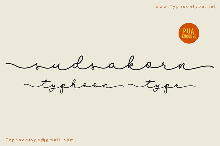 Sudsakorn Font poster